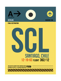 SCL Santiago Luggage Tag II Prints by  NaxArt