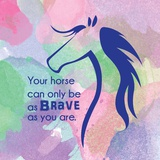 Horse Quote 14 Print by  Sports Mania