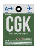 CGK Jakarta Luggage Tag II Art by  NaxArt