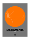 Sacramento Orange Subway Map Prints by  NaxArt