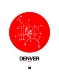 Denver Red Subway Map Prints by  NaxArt