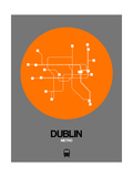 Dublin Orange Subway Map Poster by  NaxArt