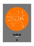 Dublin Orange Subway Map Poster by  NaxArt