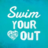 Swim Your Heart Out - Teal Prints by  Sports Mania
