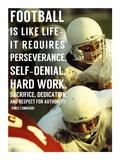 Football is Like Life Print by  Sports Mania