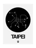 Taipei Black Subway Map Print by  NaxArt
