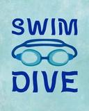 Swim Dive 1 Prints by  Sports Mania