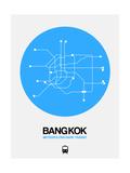 Bangkok Blue Subway Map Posters by  NaxArt