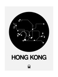 Hong Kong Black Subway Map Art by  NaxArt