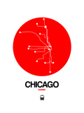 Chicago Red Subway Map Prints by  NaxArt