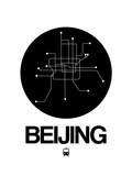 Beijing Black Subway Map Print by  NaxArt