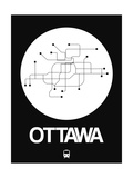 Ottawa White Subway Map Posters by  NaxArt