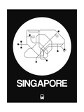 Singapore White Subway Map Posters by  NaxArt