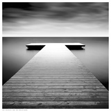 Idyllic Lake Jetty Prints by H. Biebel