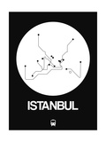 Istanbul White Subway Map Prints by  NaxArt