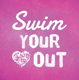 Swim Your Heart Out - Pink Kunstdrucke von  Sports Mania