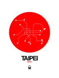 Taipei Red Subway Map Prints by  NaxArt