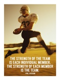 Strength of the Team Prints by  Sports Mania