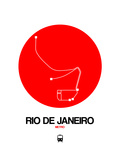 Rio De Janeiro Red Subway Map Posters by  NaxArt