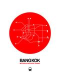 Bangkok Red Subway Map Posters by  NaxArt
