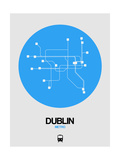 Dublin Blue Subway Map Prints by  NaxArt