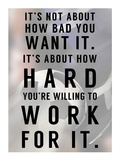 Work For It Print by  Sports Mania