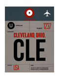 CLE Cleveland Luggage Tag I Print by  NaxArt