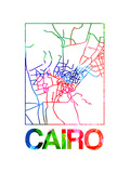 Cairo Watercolor Street Map Posters by  NaxArt
