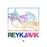 Reykjavik Watercolor Street Map Poster by  NaxArt