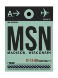 MSN Madison Luggage Tag I Print by  NaxArt