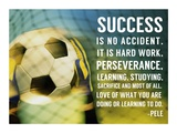 Success - soccer quote Print by  Sports Mania