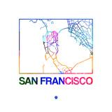 San Francisco Watercolor Street Map Print by  NaxArt