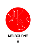 Melbourne Red Subway Map Prints by  NaxArt