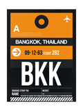 BKK Bangkok Luggage Tag I Poster by  NaxArt