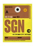 SGN Ho Chi Minh City Luggage Tag I Poster by  NaxArt