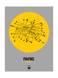 Paris Yellow Subway Map Affiches par  NaxArt