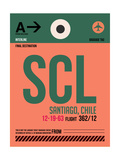 SCL Santiago Luggage Tag I Posters by  NaxArt