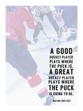 Great Hockey Player Pósters por  Sports Mania
