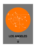 Los Angeles Orange Subway Map Poster by  NaxArt