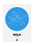 Berlin Blue Subway Map Prints by  NaxArt
