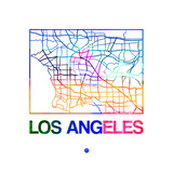 Los Angeles Watercolor Street Map Prints by  NaxArt