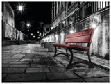 Night Bench Poster by L. Outchill