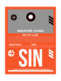 SIN Singapore Luggage Tag II Prints by  NaxArt