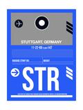 STR Stuttgart Luggage Tag II Prints by  NaxArt