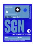 SGN Ho Chi Minh City Luggage Tag I Prints by  NaxArt