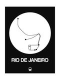 Rio De Janeiro White Subway Map Prints by  NaxArt