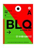 BLQ Bologna Luggage Tag I Print by  NaxArt