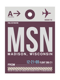 MSN Madison Luggage Tag II Prints by  NaxArt