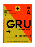 GRU Sao Paulo Luggage Tag II Prints by  NaxArt