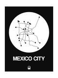 Mexico City White Subway Map Prints by  NaxArt